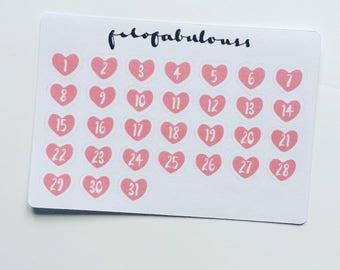 Heart Date Dots