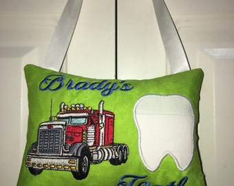 Personalized Tooth Fairy Pillow tooth cushion easter birthday