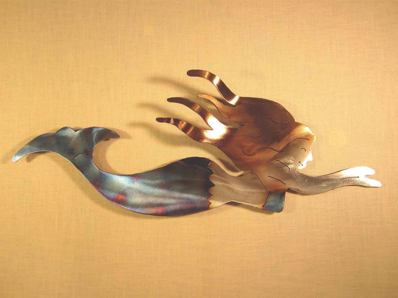 Mermaid Siren Mythology Steel Wall Art Metal Ocean Beach House