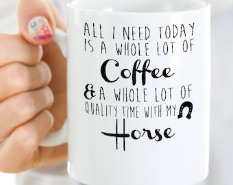 Horse mug, large 15 oz size, horse coffee mug, horse gifts, equestrian gifts, best friend gifts, horse gifts for girls