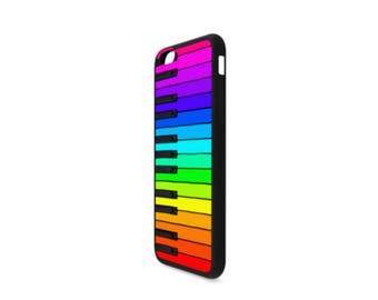 Rainbow Piano Keyboard Case for iPhone 6/6s Plus