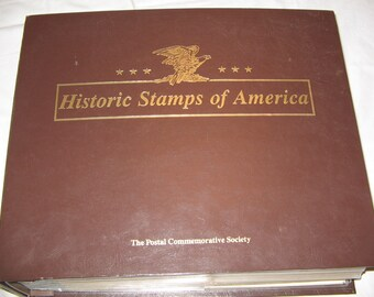 Historic Stamps Of America Completed Stamp Book