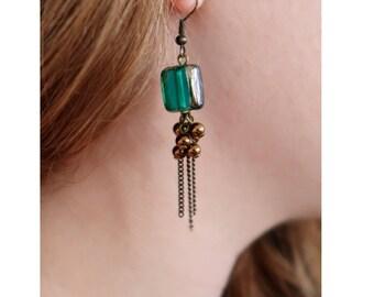 Copper Jellyfish earrings