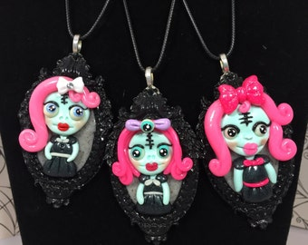 Pink Spooky Girls Necklaces