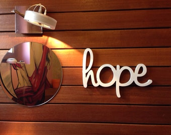 Wall sign Hope wooden letters for home decor Sign