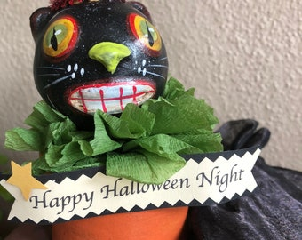 Black Cat Candy Container