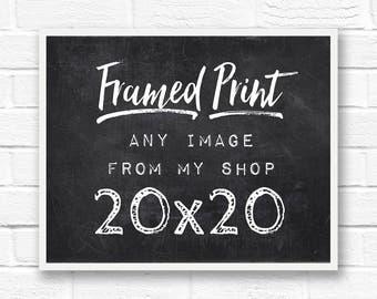 20x20 frame, square frame, framed print, large framed art, custom frames, framed photos, framed word art, framed quotes, framed beach art