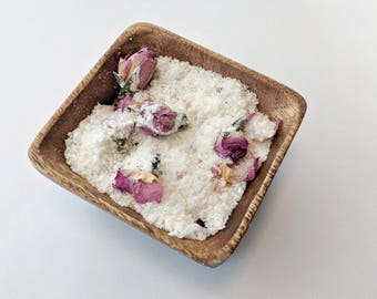 BATH SALTS // Lavender Rose Bath Soak / Gifts for her / Relaxing Bath Salts / Gift Ideas / All Natural Skincare / Handmade