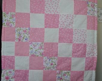Rose Dream/Stroller Quilt/Pram Quilt/Baby Quilt/Patchwork Quilt