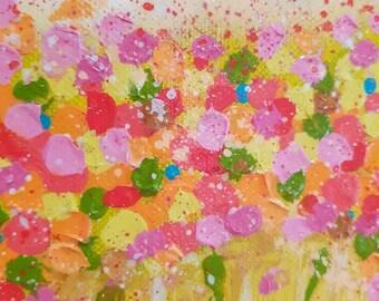 "Original mini acrylic painting 6"" x 6"""