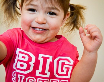 Personalized Gifts, Custom Shirts for Big Sister In Training, Cool T-shirts Available For Big, Bigger, Biggest, Baby, Little, Middle Brother
