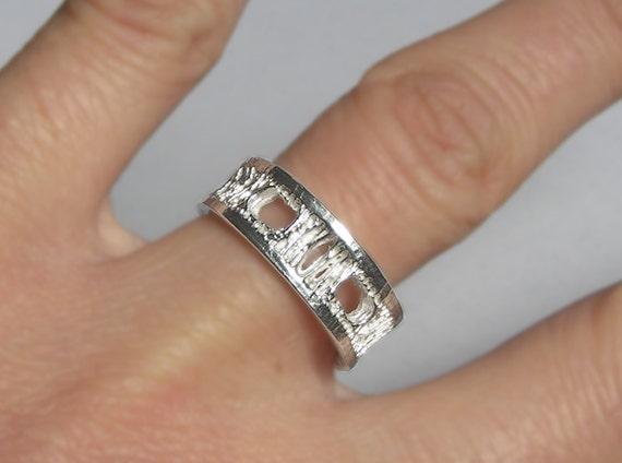Silver Shark Vertebra Ring-Small-Ready to ship.
