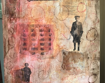 Original Mixed Media Gemälde | Collage