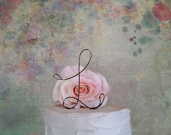 Initial Wedding Cake Topper, Custom Rustic Wedding Cake Topper, Shabby Chic Cake Decoration, Monogram Cake Topper, Initials Cake Topper