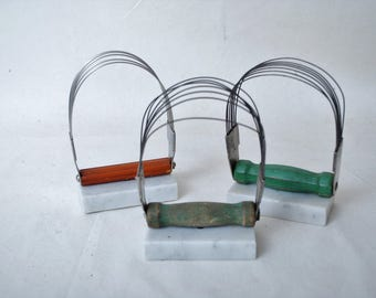 Reclaimed Pastry Blender on a Marble Base Prefect for Mail or as a Recipe Holder