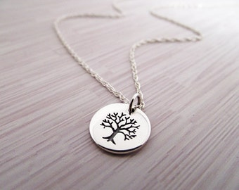 Tree of Life Necklace, Chain - Tree of Life Pendant, Silver Necklace, Sterling Silver, Tree of Life Charm