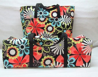 Carrying Bag for a Cricut Explore Air 2 / Cricut Maker / Silhouette Cameo 3 / Brother ScanNCut /Accessory Bag / Large Multi Color Flowers