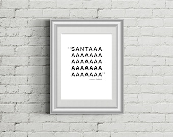 SANTA Holiday Print