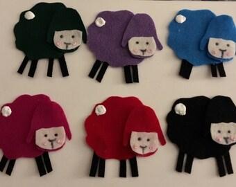 Baa Baa Black Sheep (Green, Red, Purple. . .) Felt/Flannel Board Story - Children's Story
