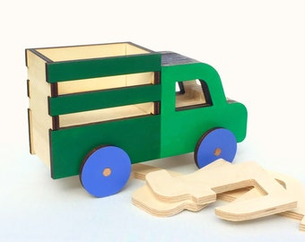 Wooden Toy Truck, Push Toy for Toddlers, Car Toy, Personalized