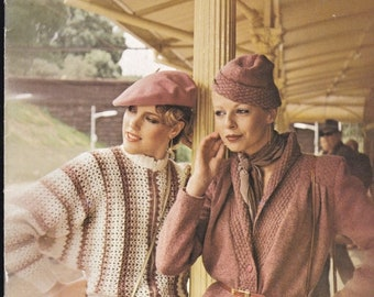 ON SALE Paton's Knitting Pattern No 586  Ladies Caressa (Vintage 1970s), Jumpers, Sweaters, Cardigans, Jackets