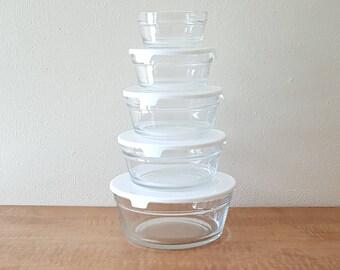 Glass Prep Bowls Nesting Bowls Set of 5