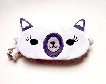 ALPACA Sleep Mask Llama Eyemask Cute Animal Eye Mask Beauty Sleep Mask Travel Flight Mask Kitsch Mask Llama Gifts Alpaca Theme CREAM Alpaca