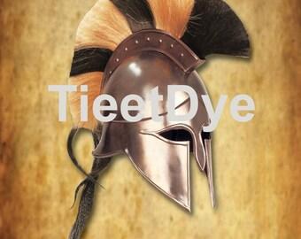 Corithian Sparta Spartan King Leonidas Helmet Roman Costume