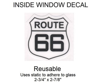 "US Route 66 Inside Window Decal - 2-3/4"" x 2-7/8"""