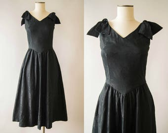 vintage 1980s dress / 80s does 50s Lanz cotton dress / medium