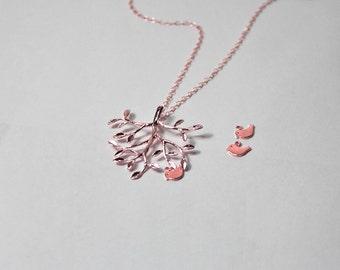 Bird tree necklace Etsy