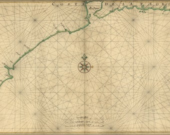 Poster, Many Sizes Available; Map Of The Gulf Coast From Florida To Mexico 1639