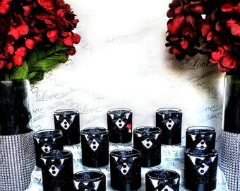 Grooms wedding favors,  Grooms party favors, Grooms candle holders, Bachelor party favors, Groomsmen gift