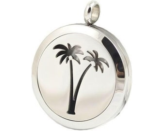 Palm Tree Essential Oil Necklace Diffuser
