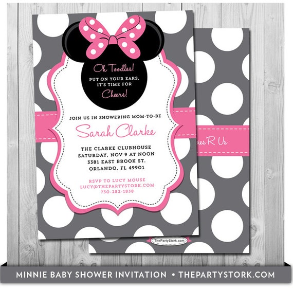 Elegant Minnie Mouse Baby Shower Invites Baby Shower Minnie Mouse