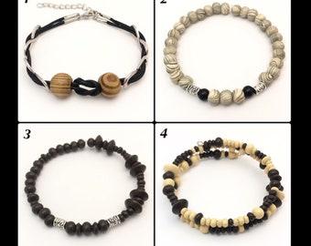 Mens bracelet wooden