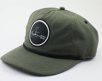 Green Cotton Twill Cap