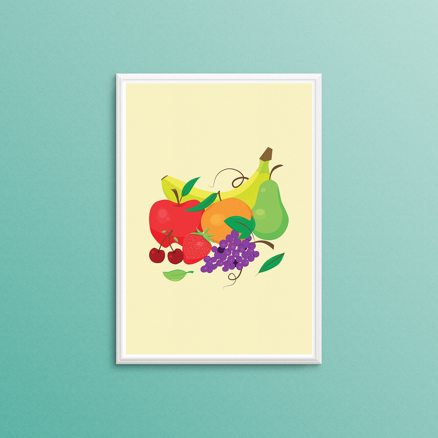 Kitchen Wall Art. Digital Download. Kitchen Poster. Food Art.