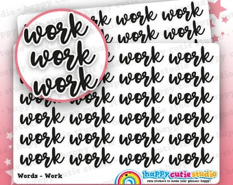 24 Cute Work/Functional/Planner/Script Stickers, Filofax, Erin Condren, Happy Planner, Kawaii, Cute Sticker, UK