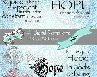 We Are 3 Digital Shop - Hope  Sentiments,  Transparent Digital Image