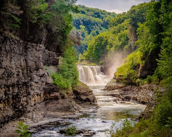 Middle Falls Letchworth State Park Waterfall