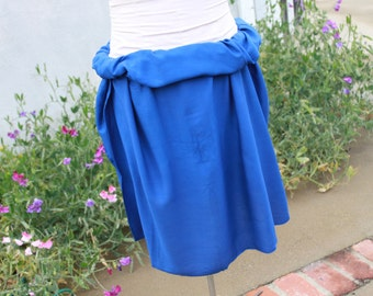 Royal Blue-Pareo-solid color-full sized-rayon- sarong-half sized, mini, pareau, blue, wrap. Tahitian pareo 100 percent rayon