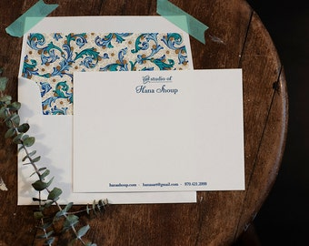 Personalized Business Stationery | Digitally Printed Stationery | Business Correspondence Card