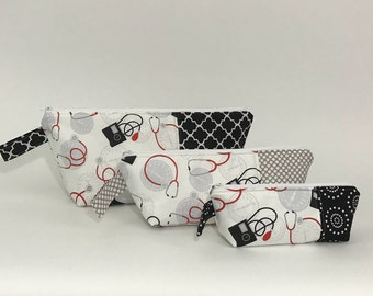 Nesting Travel Bags - Medical Print