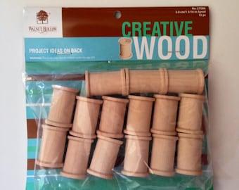 Walnut Hollow Creative Wood Spools -- Two Packs