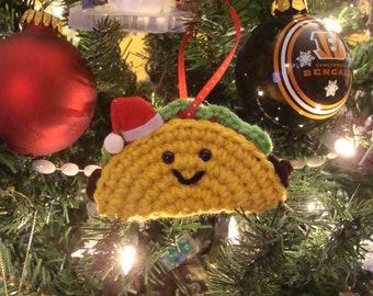 Santa Taco Ornament