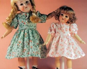 Bleuette and Rosette pattern for doll clothing - POIDS PLUME  dress - Gautier Languereau 1956