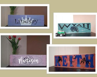 "Baby Name Signs - 5 1/2"" x 18"""