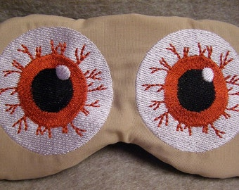 Embroidered Eye Mask for Sleeping, Cute Sleep Mask for Kids, Adults, Sleep Blindfold, Slumber Mask, Custom, Eye Design, Handmade