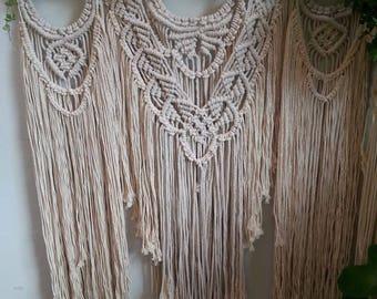 Macrame wallhanging handmade natural cotton
